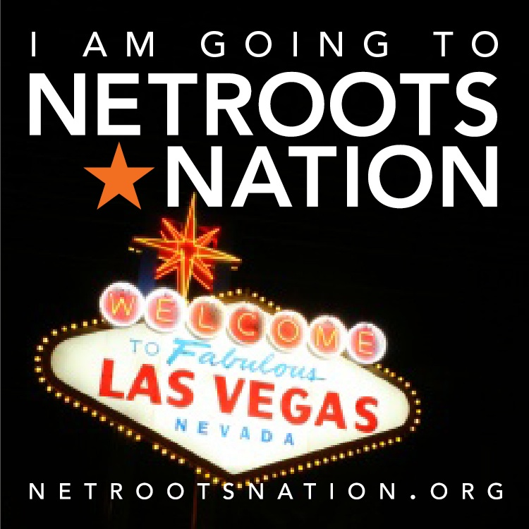 Netroots Nation logo: I'm going to vegas