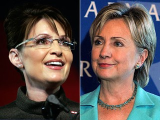 Hillary Clinton and Palin