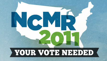 NCMR logo for 2011, text over US shape