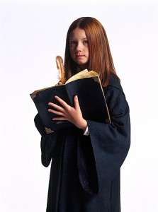 Photo of Ginny Weasley wearing a cape