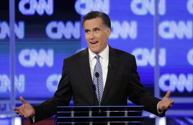 Mitt Romney at the South Carolina debate