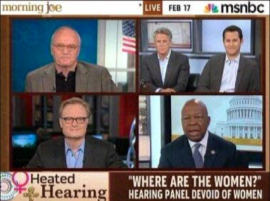 Where are the women? all male discussion on Morning Joe