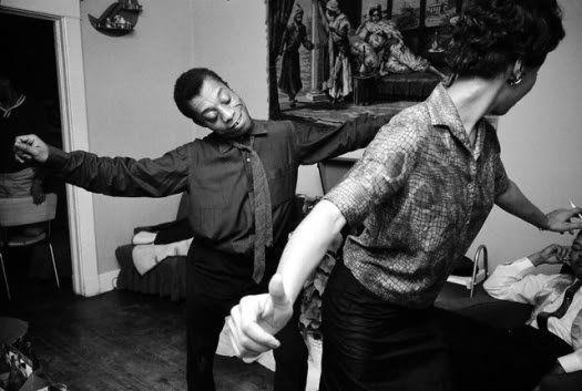 James Baldwin and Lorrain Hansberry dancing