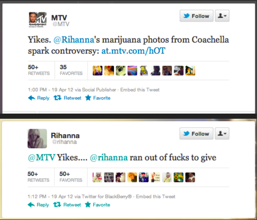 rihanna mtv texts