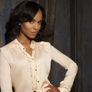 Kerry Washington in white blouse