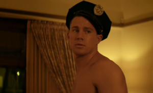 Channing Tatum in a cop hat