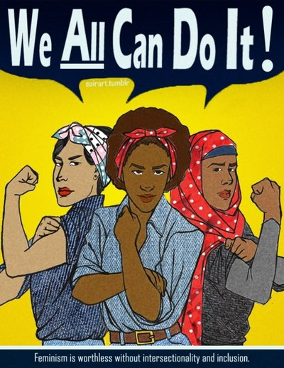 Great feminist (and Lady Gaga) art at http://soirart.tumblr.com/