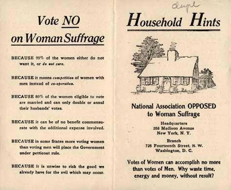 Vote No on Women's Suffrage pamplet