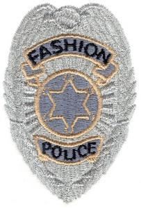 """Fashion police"" badge"