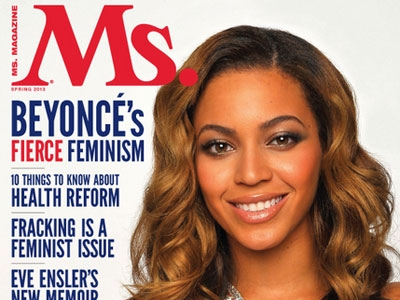 Beyonce on the cover of Ms. magazine