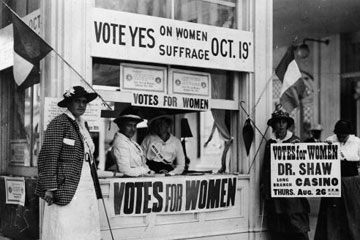 Women's suffrage vote