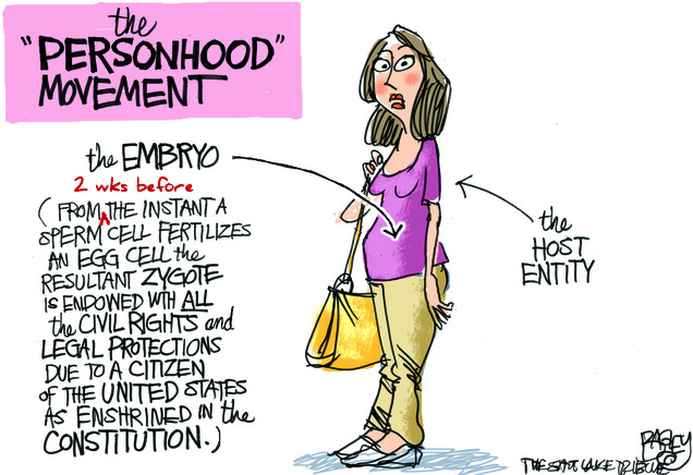 Cartoon of the personhood movement