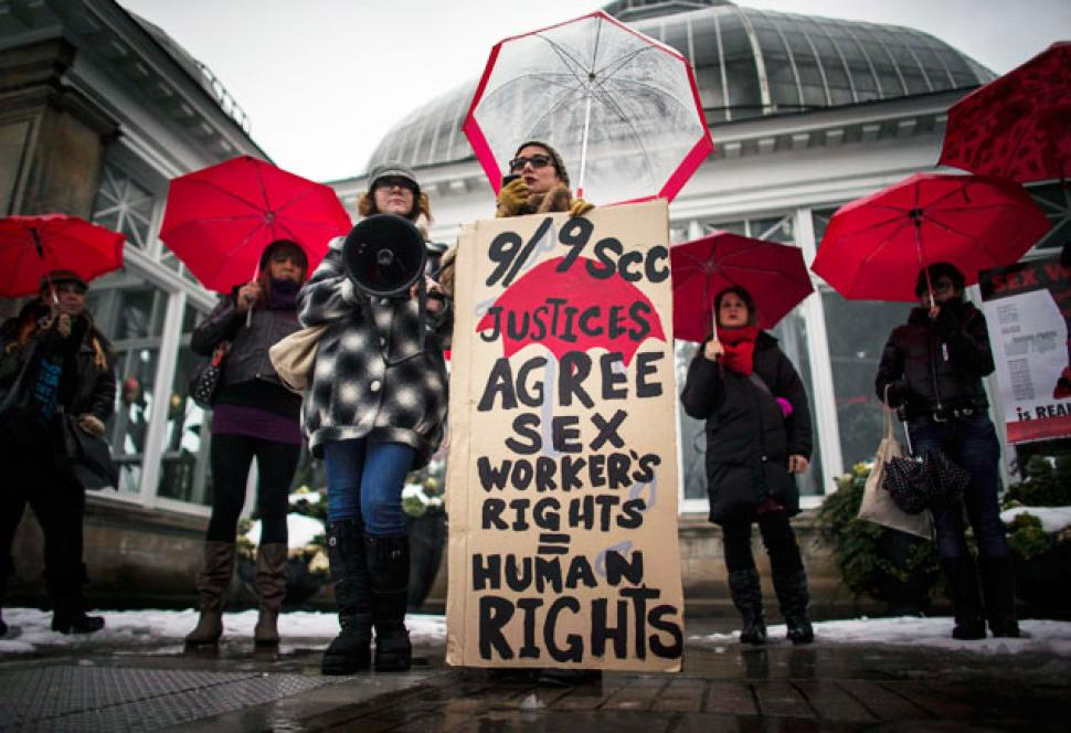 Canadian sex workers rights protest in Canada