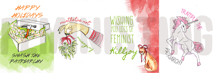 Feministing's holiday cards for 2014