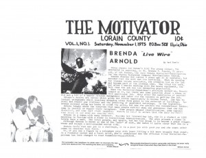 ​Photo description: The Motivator, a community newspaper article profiling Tara's mom, Brenda Conley as the only female Installer-Repairperson for the Elyria Telephone Company Mid-Continent System. November 1, 1975.