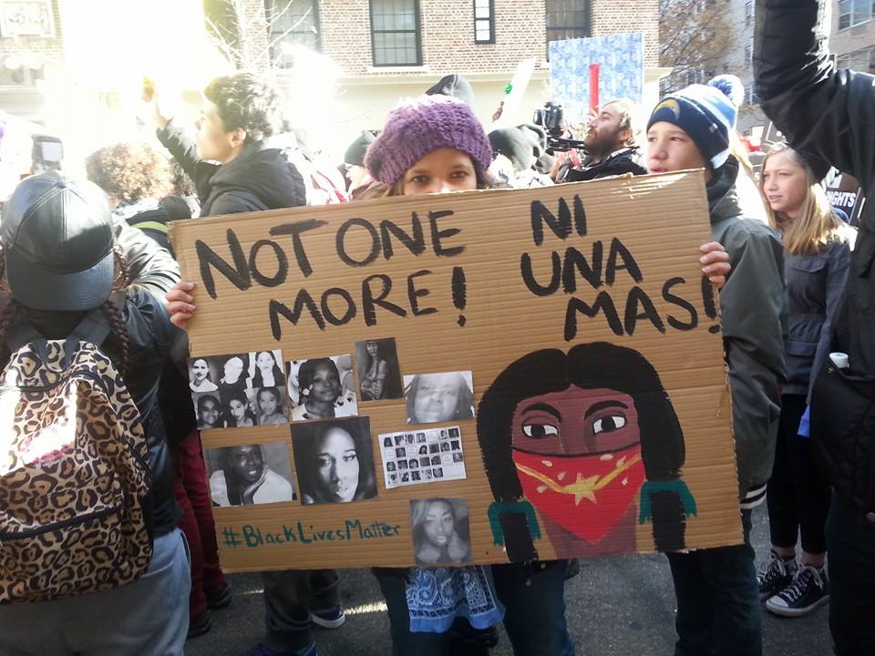 """not one more"" protest sign"