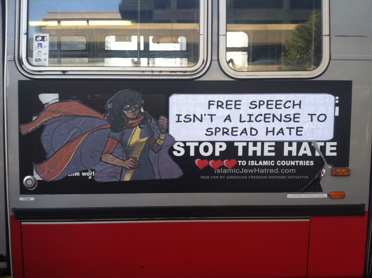 """free speech isn't a license to spread hate"""