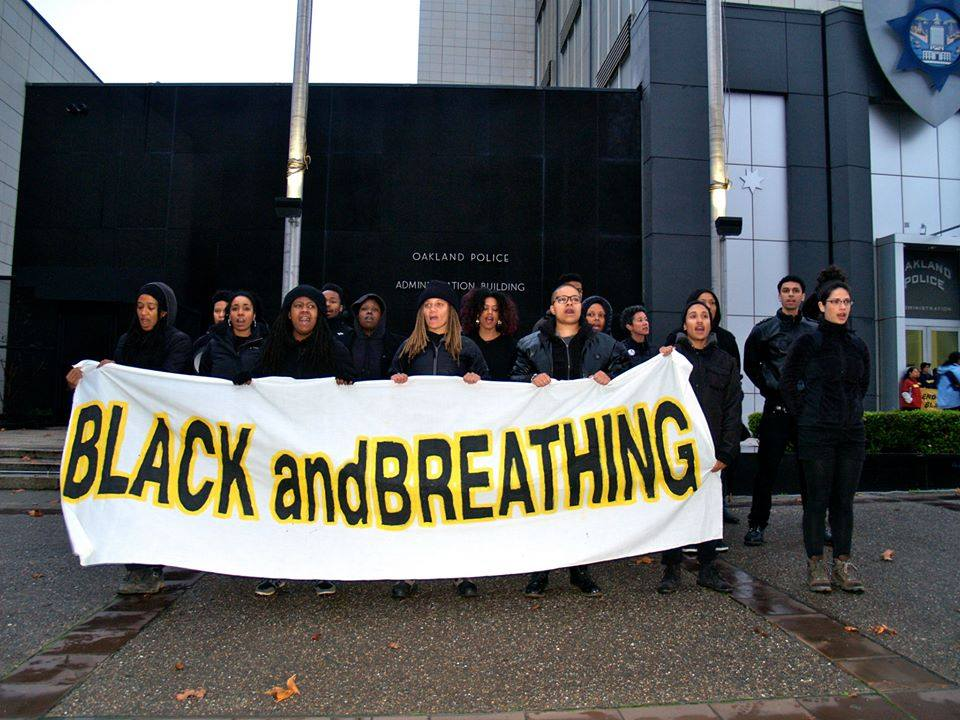 """black and breathing"" sign"