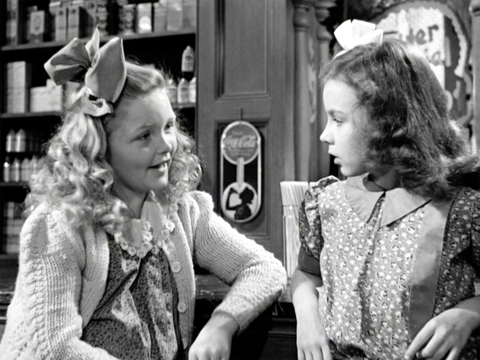 Violet and Mary in It's a Wonderful Life