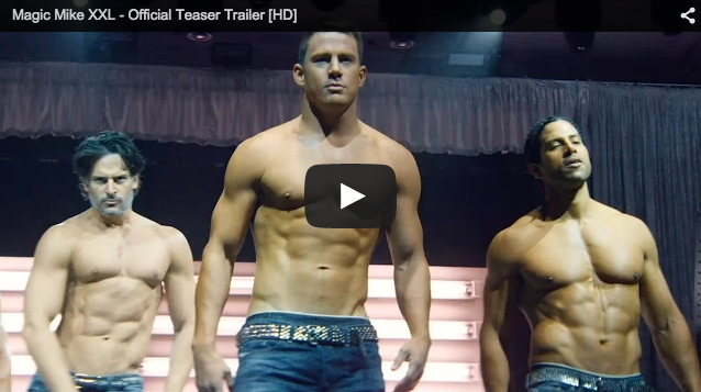 screen shot of magic mike trailer