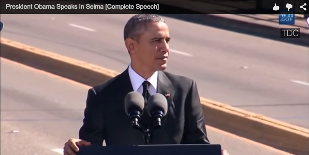 screen shot of Obama speech