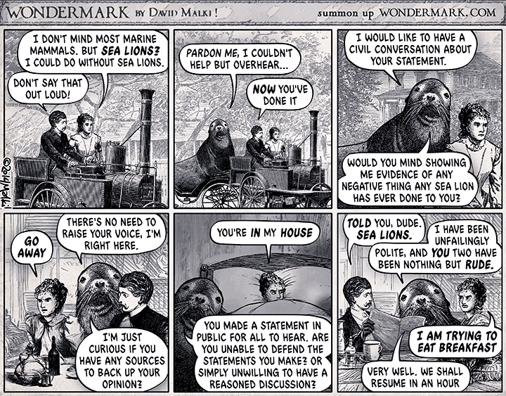 Sealion Comic