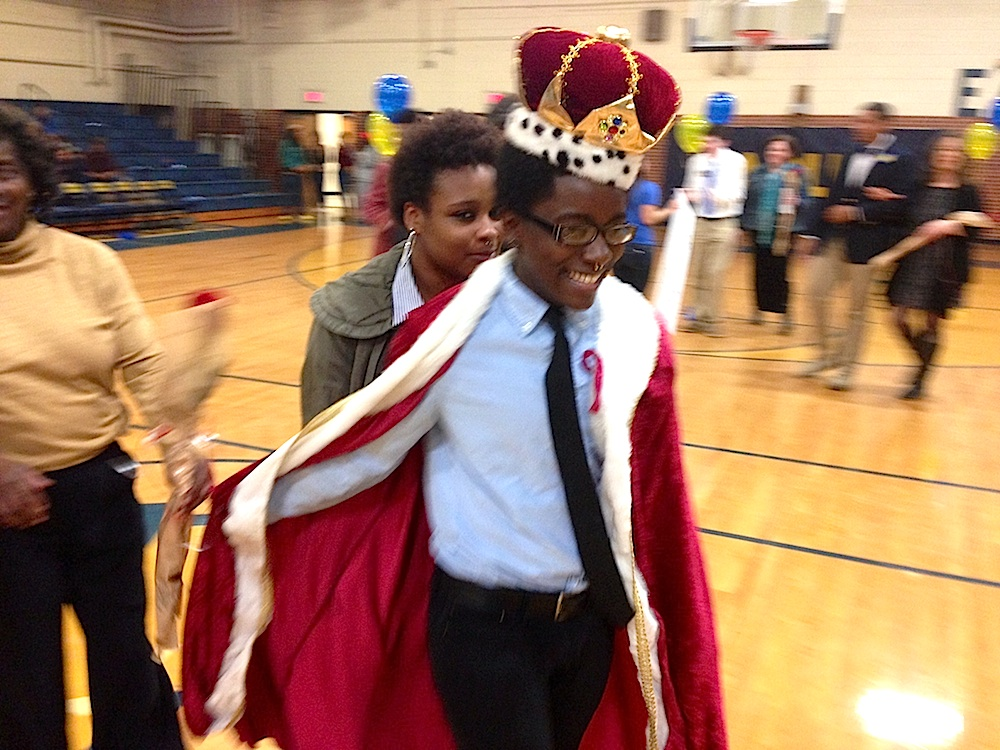 blake brockington as homecoming king
