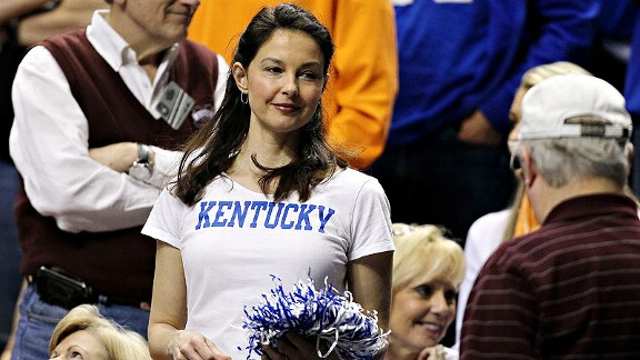 Ashley Judd at Kentucky game