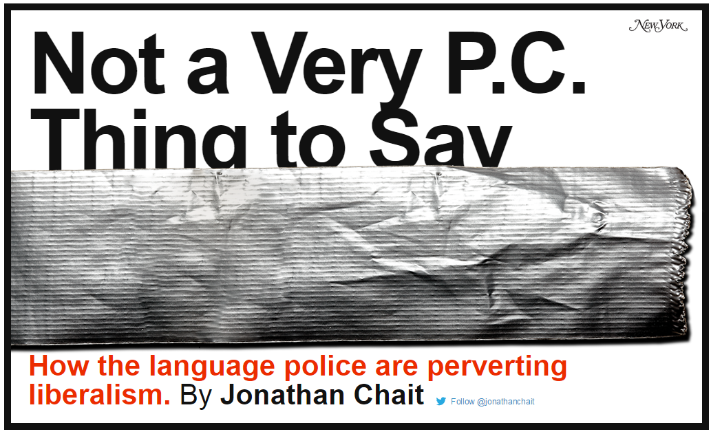 """Not a Very PC Thing to Say"" article"