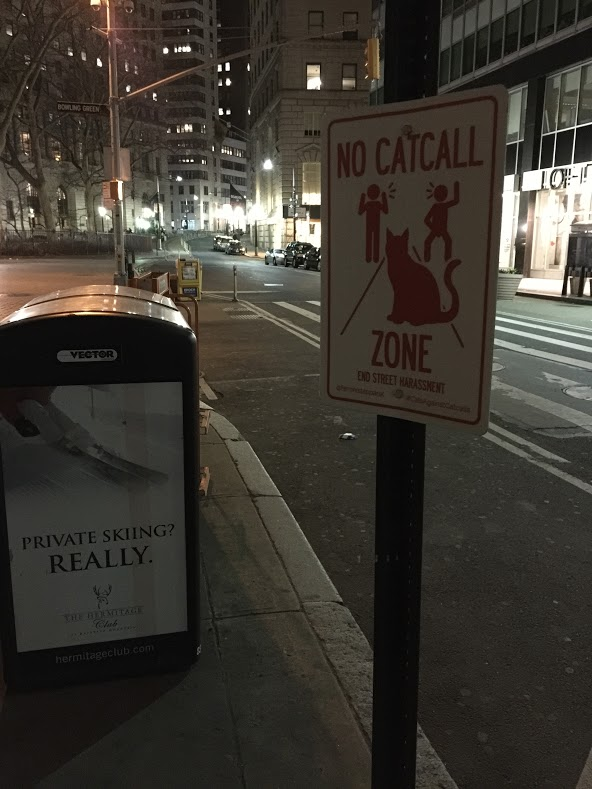 no catcall zone sign