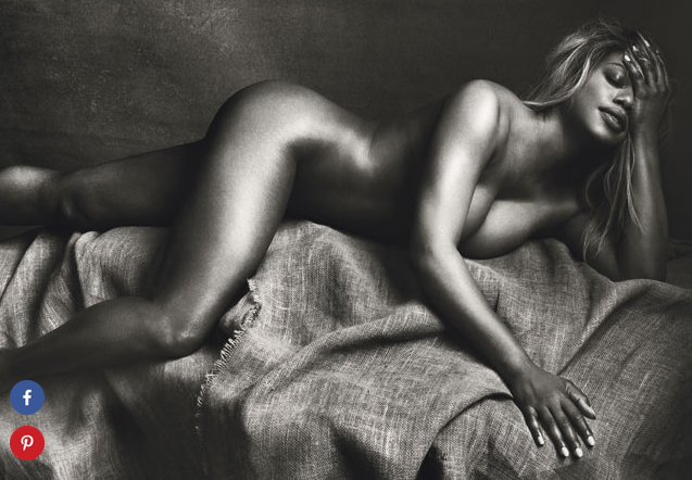 Laverne Cox nude in Allure