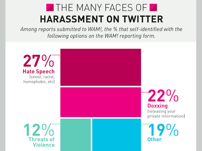 infographic of twitter harassment types