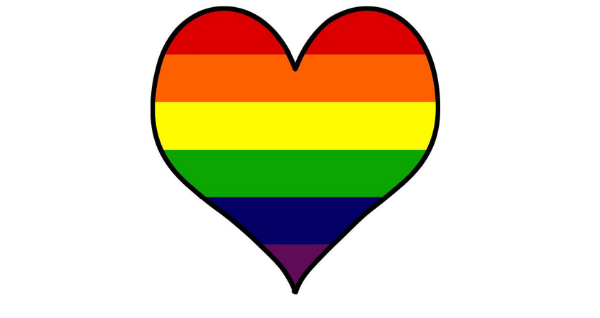 rainbow flag heart