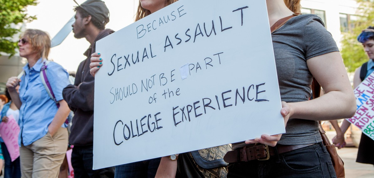 protest against campus sexual assault