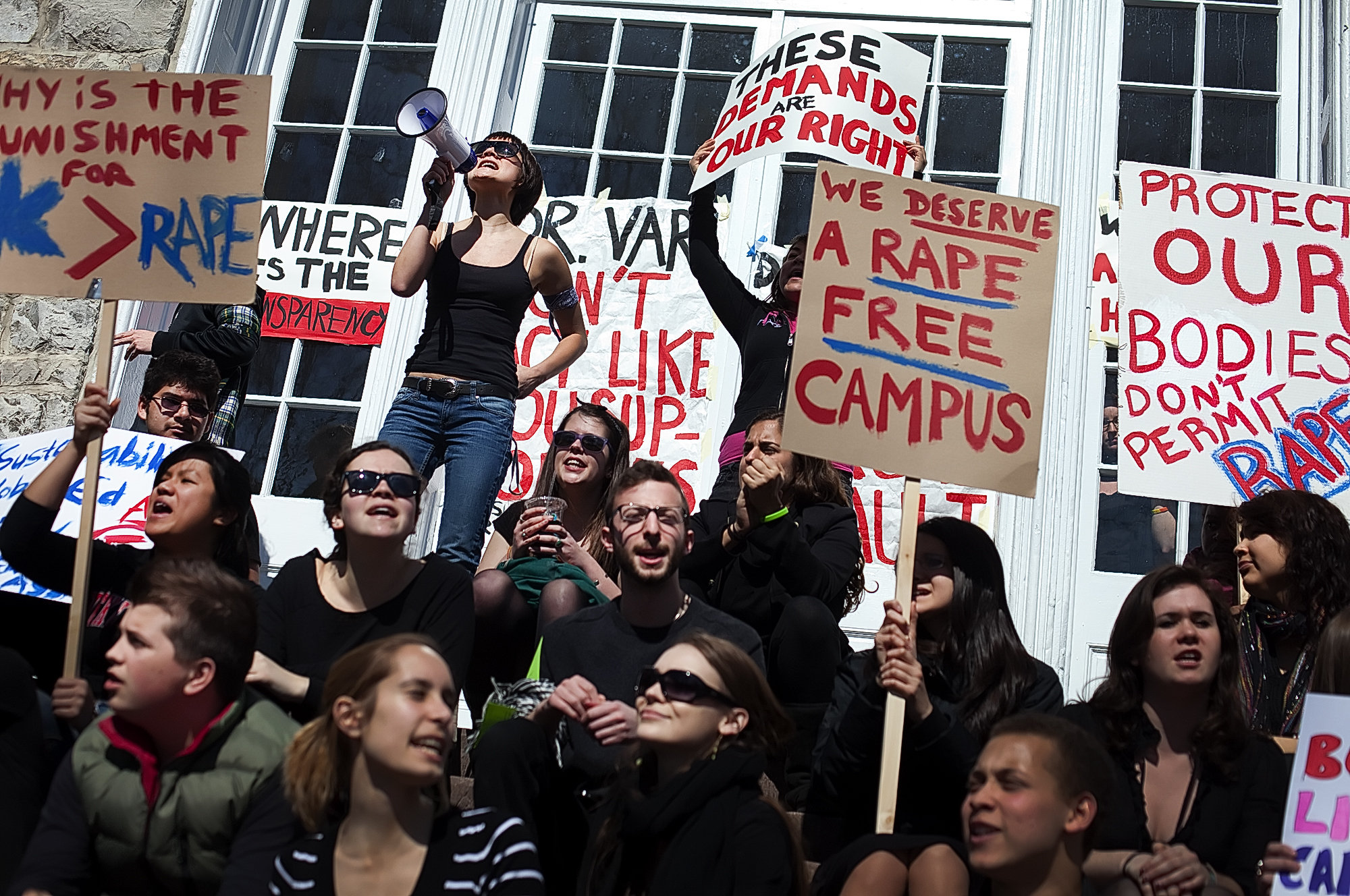 anti-rape protest at Columbia