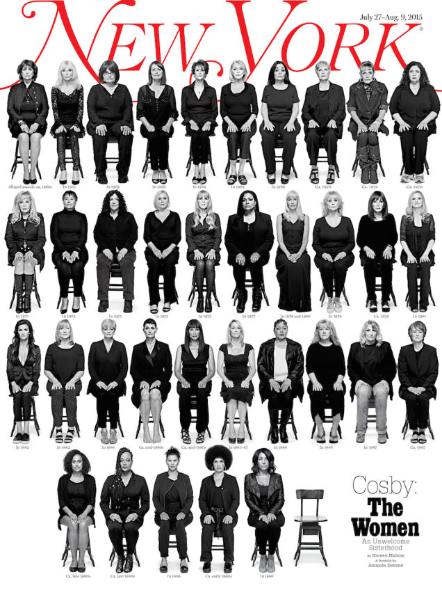 New York cover with Cosby accusers