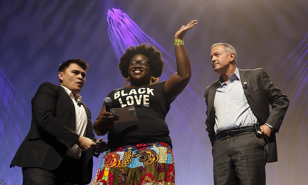 blacklivesmatter protestor at netroots