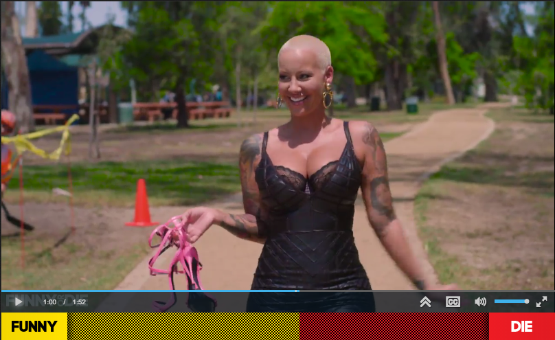 amber rose walk of shame