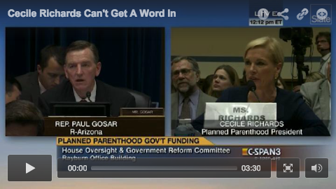 cecile richards being interrupted screen shot