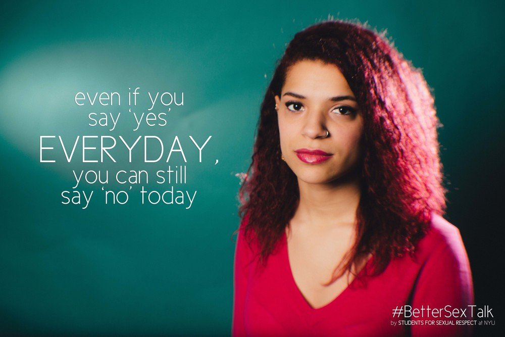 Even if you say yes everyday, you can still say no today