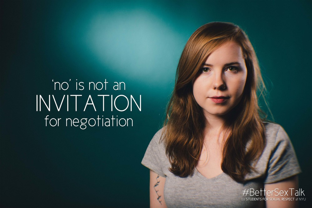No is not an invitation for negotiation.