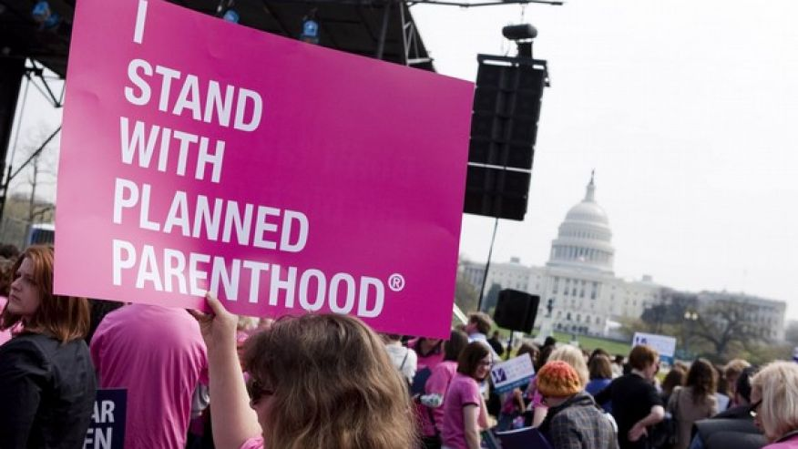 I stand with Planned Parenthood sign