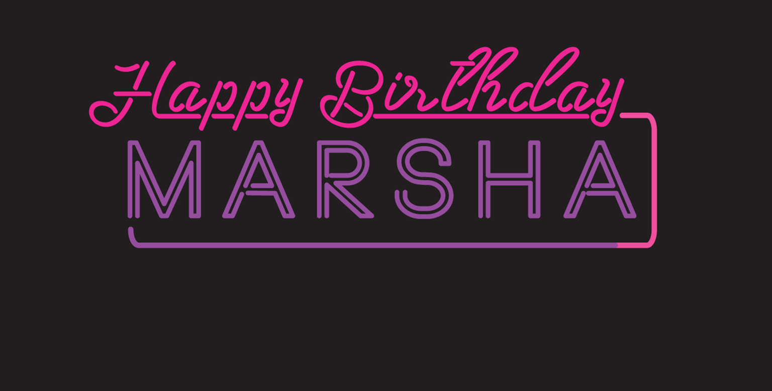 Happy Birthday marsha logo