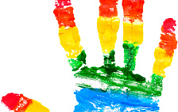 rainbow hand