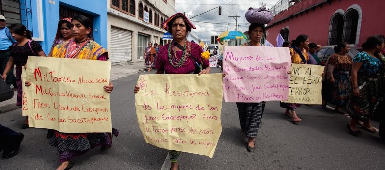women march guatemala