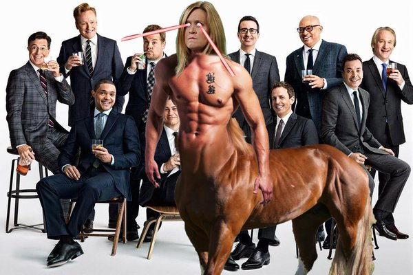 Samantha Bee photoshopped into late night Vanity Fair cover of all men