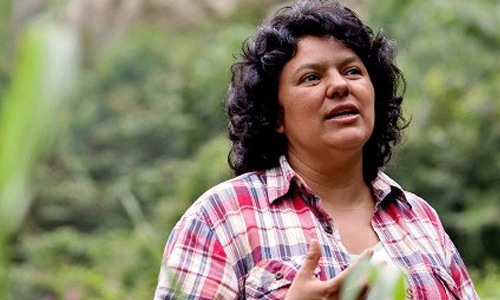 Before her assassination, Berta Cáceres called out Clinton's role in the 2009 Honduran coup. Image via Goldman Environmental Prize