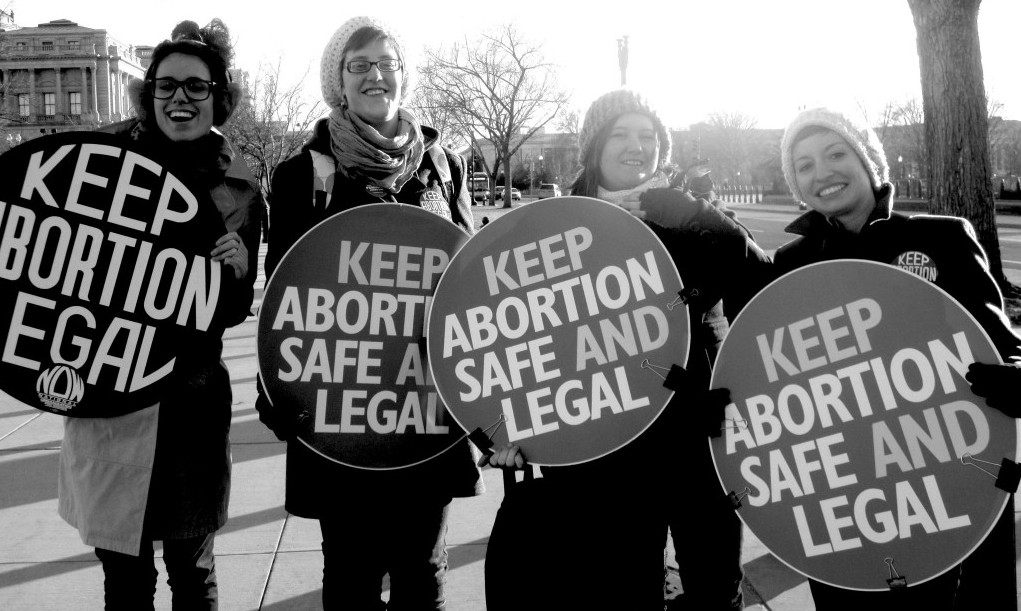 keep abortion safe and legal signs