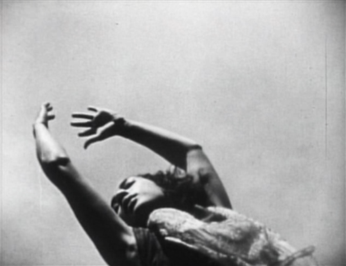 "Still from Maya Deren's ""Ritual in Transfigured Time,"" from 1946. (Image from tumblr)."