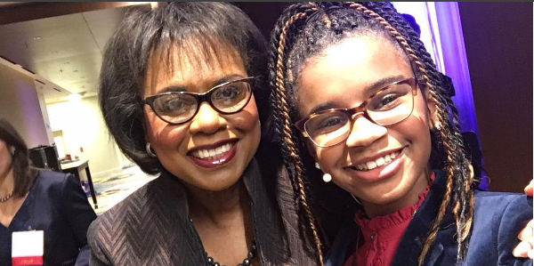 Marley Dias with Anita Hill at the National Women's Law Center annual dinner